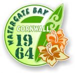 Cornwall Watergate Bay 1964 Surfer Surfing Design Vinyl Car sticker decal 97x95mm